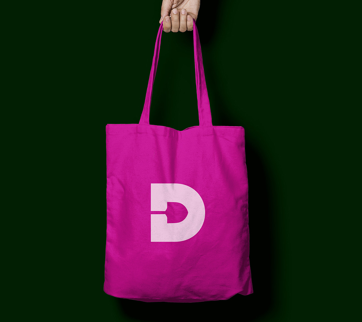 Tote bag design for food brand Donnelly, designed by White Bear Studio