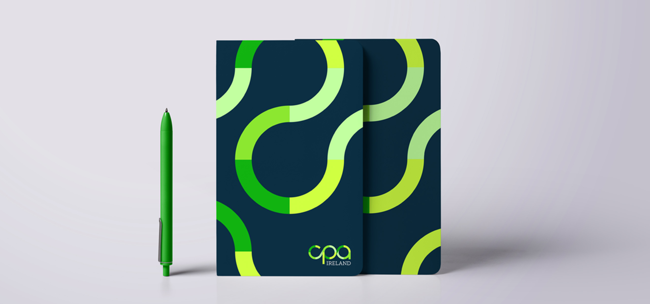 Notebook design for Irish accountancy brand CPA, designed by White Bear Studio