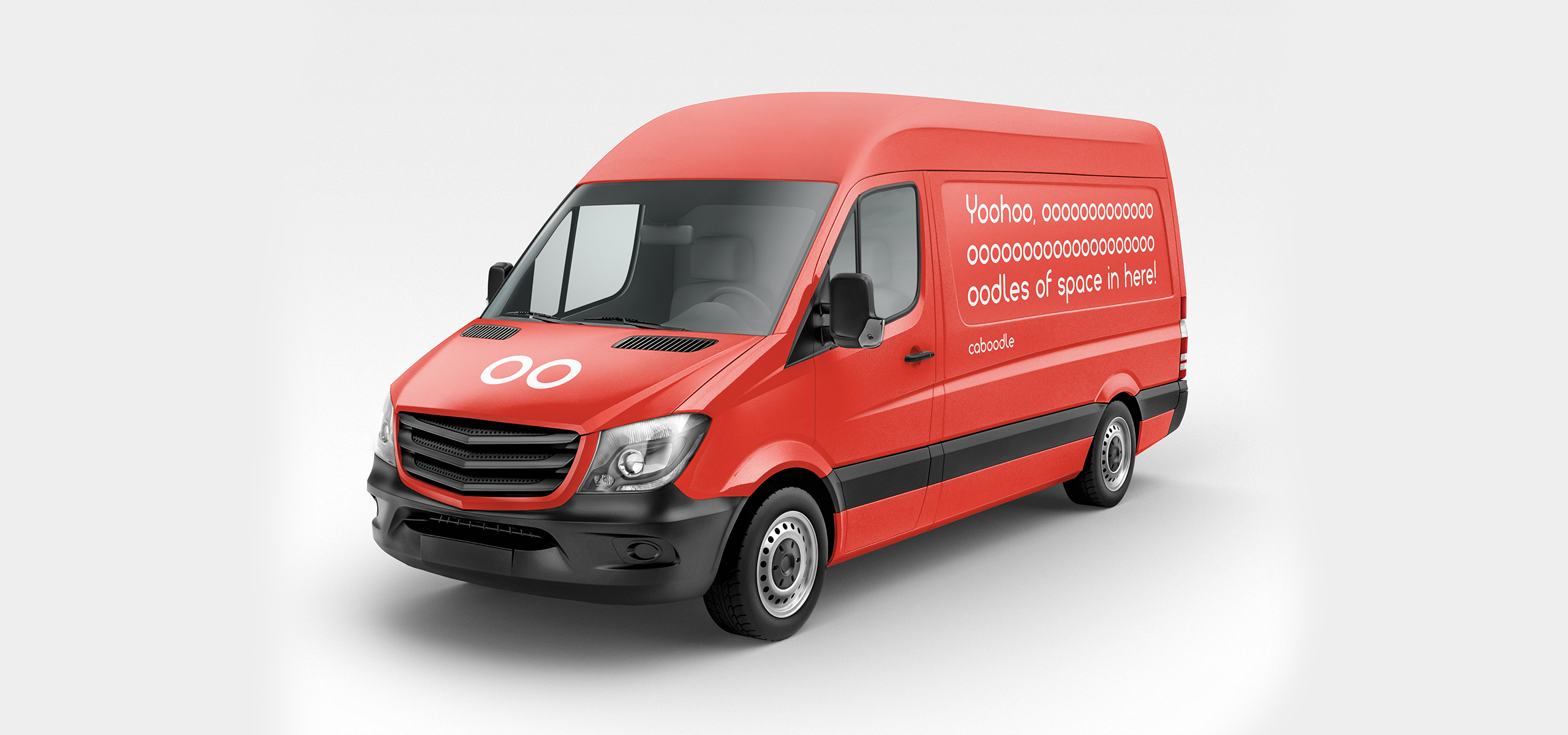 Delivery van design for new startup brand Caboodle, designed by White Bear Studio