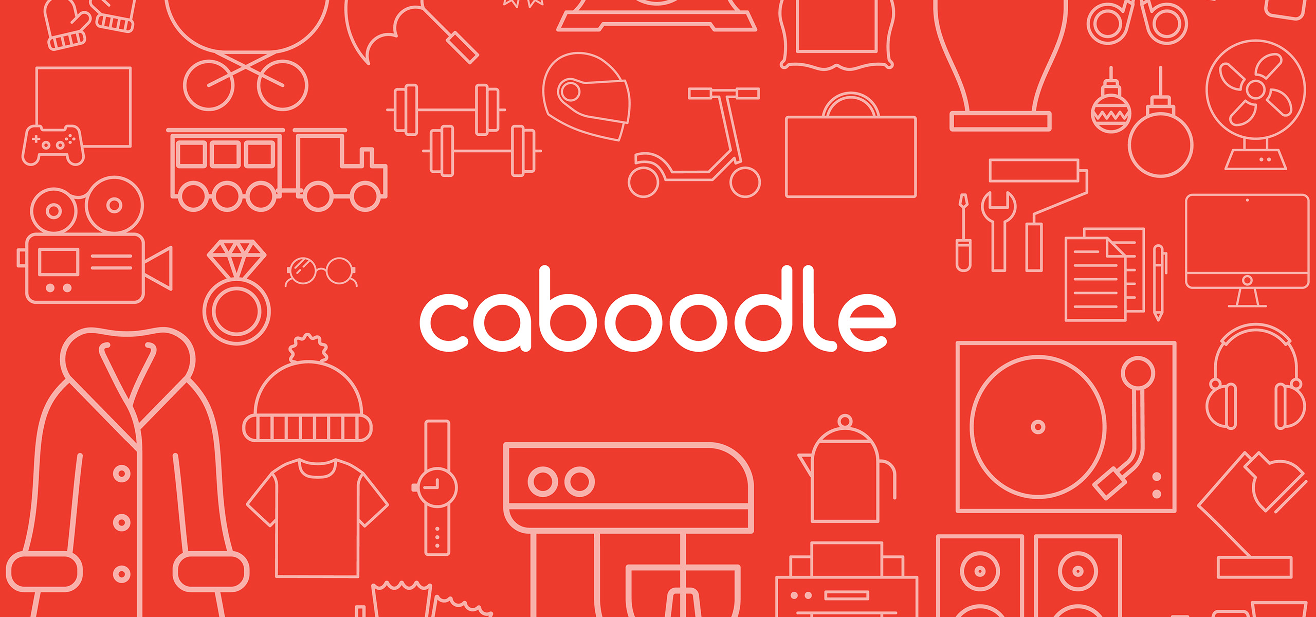 Logo with bespoke illustrations for new startup brand Caboodle, designed by White Bear Studio
