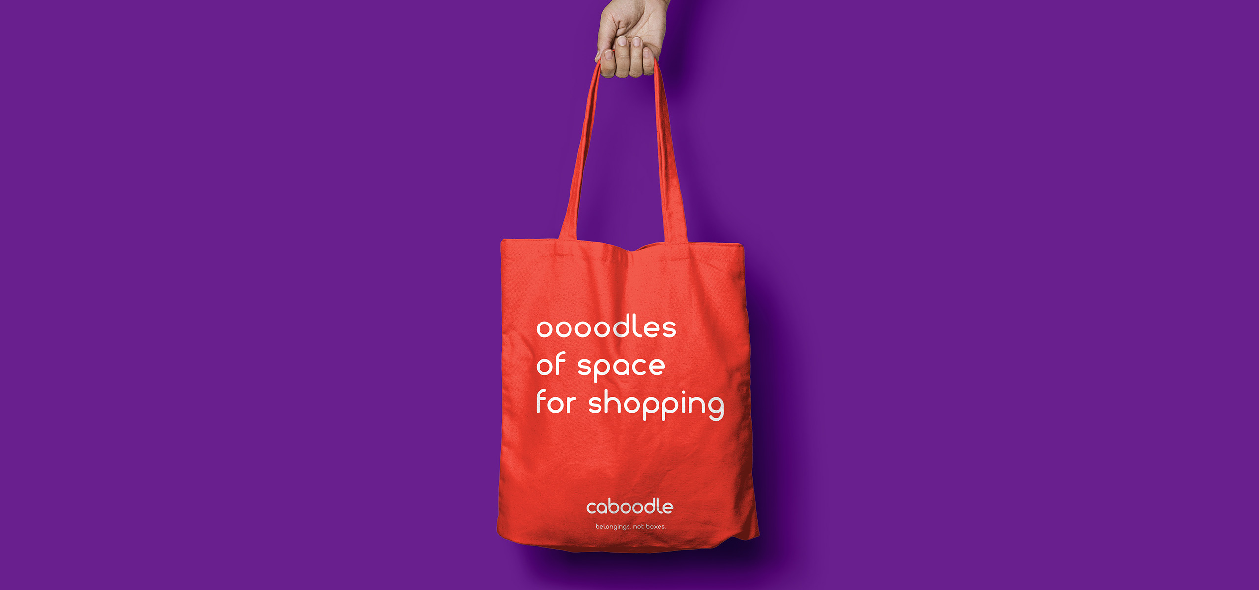 Tote bag design for new startup brand Caboodle, designed by White Bear Studio