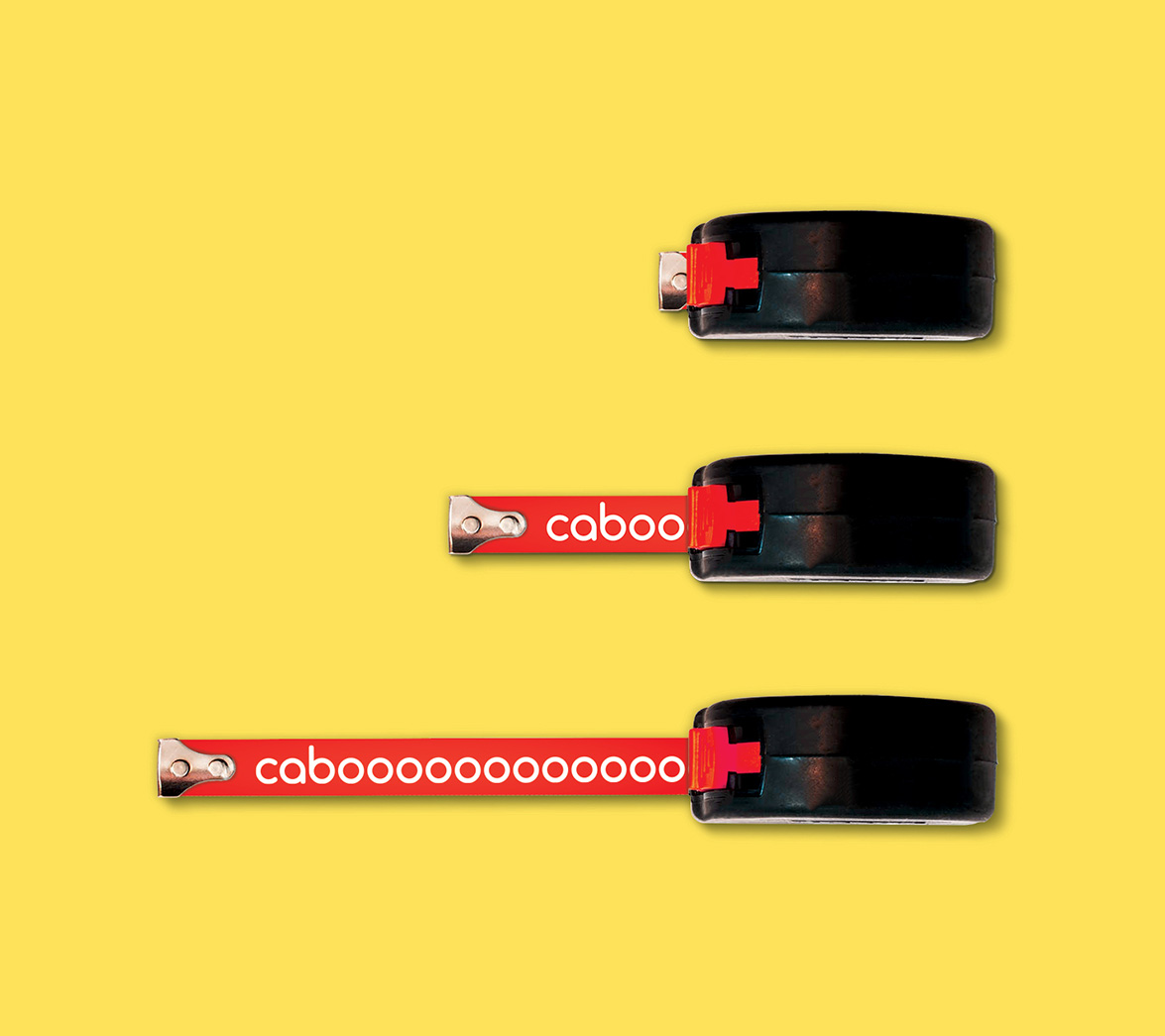 Measuring tape design for new startup brand Caboodle, designed by White Bear Studio