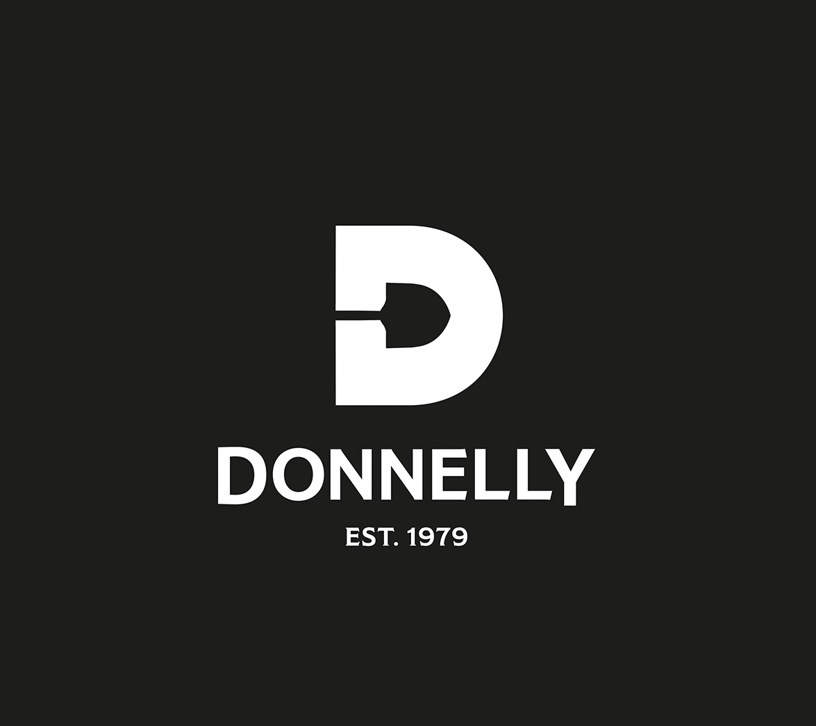 Logo design for food brand Donnelly, designed by White Bear Studio