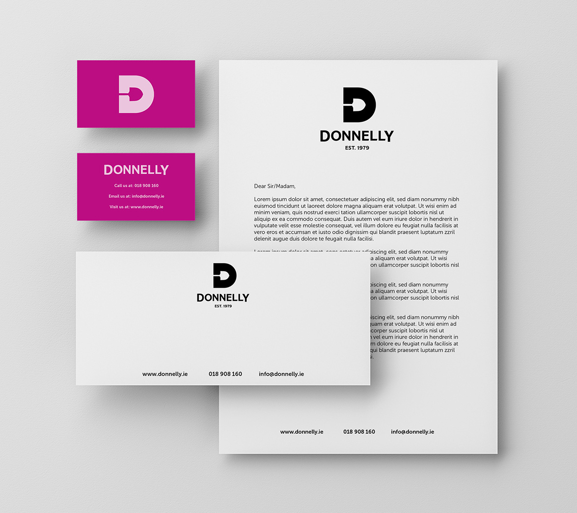 Stationery design for food brand Donnelly, designed by White Bear Studio