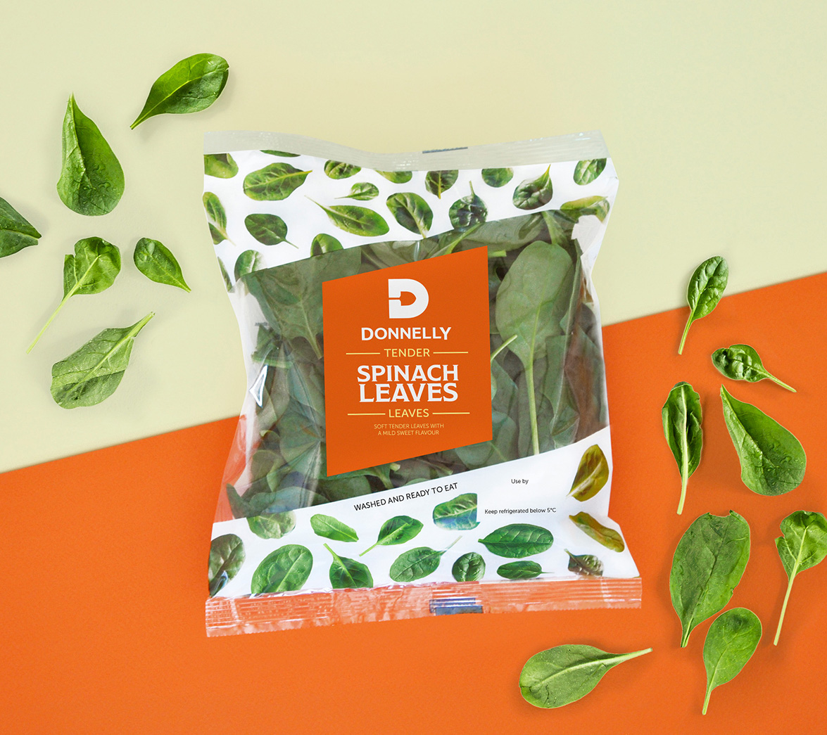 packaging fresh produce salad design