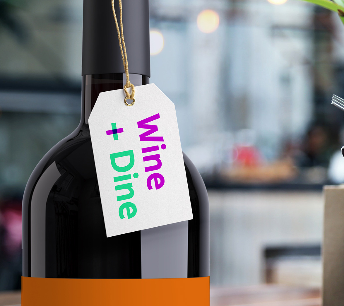 Wine and dine label design for new startup brand My Date Night, designed by White Bear Studio