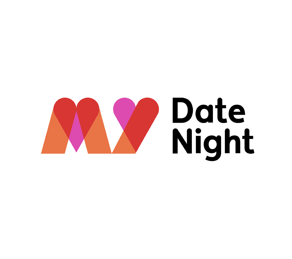 Logo for new startup brand My Date Night, designed by White Bear Studio