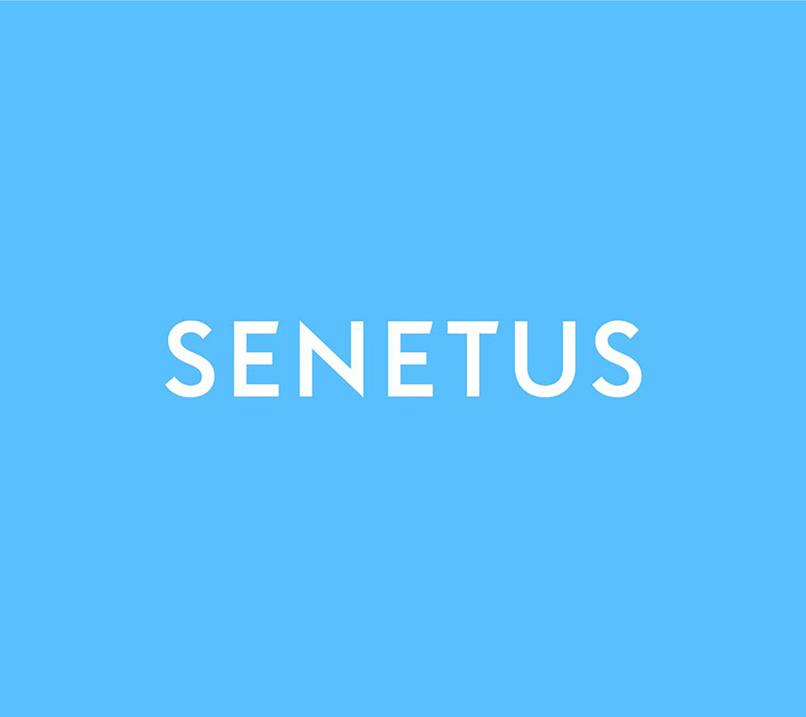 Secondary logo design for startup brand Senetus, designed by White Bear Studio