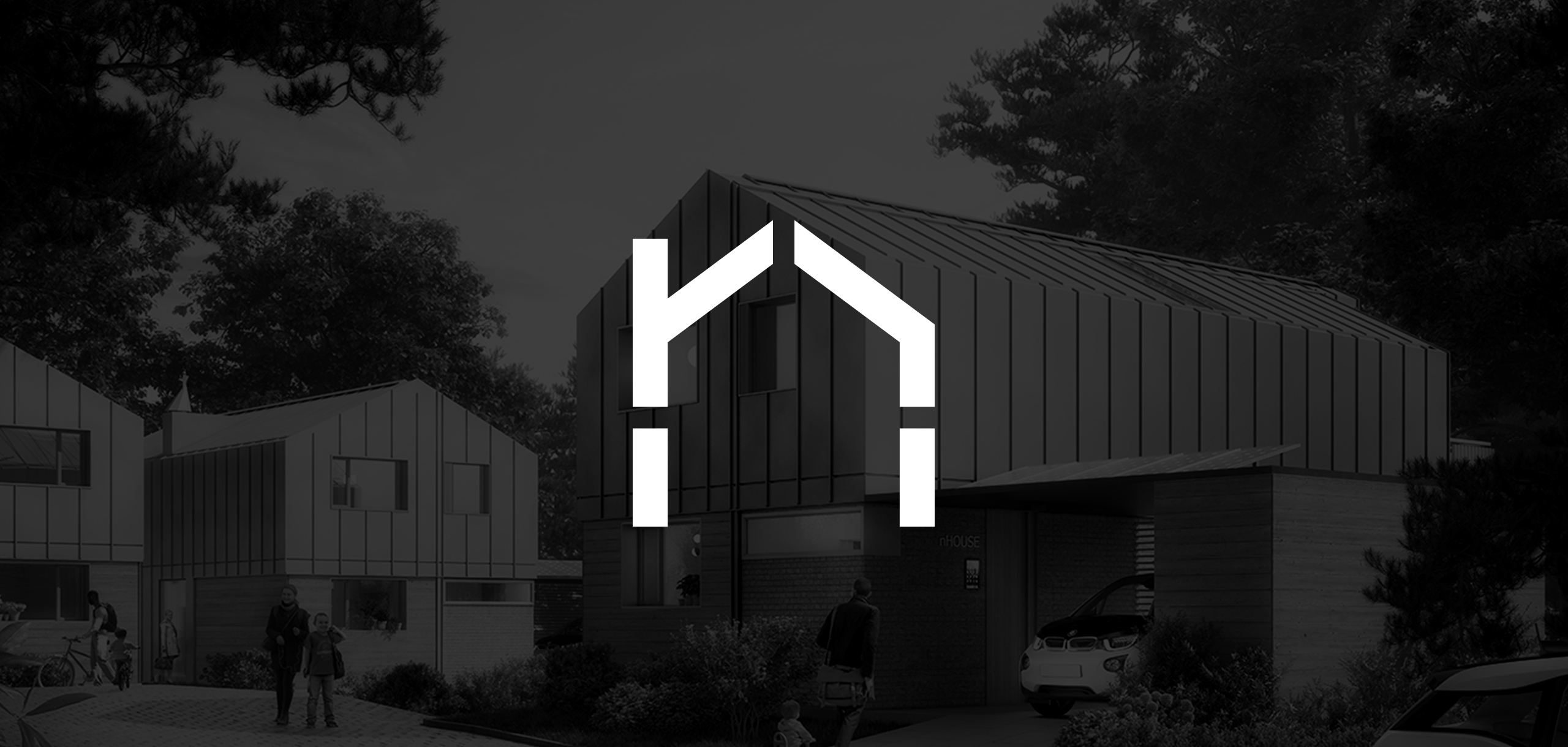 Logo design for architecture startup brand nHouse, designed by White Bear Studio