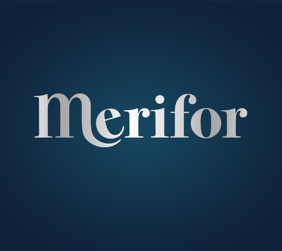 Logo design for mattress startup brand Merifor, designed by White Bear Studio