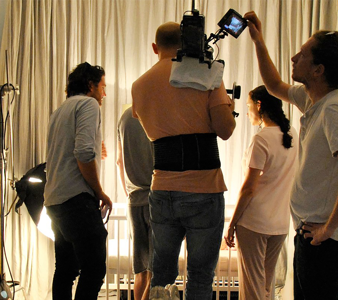 Behind the scenes from White Bear Studios video for mattress startup Merifor