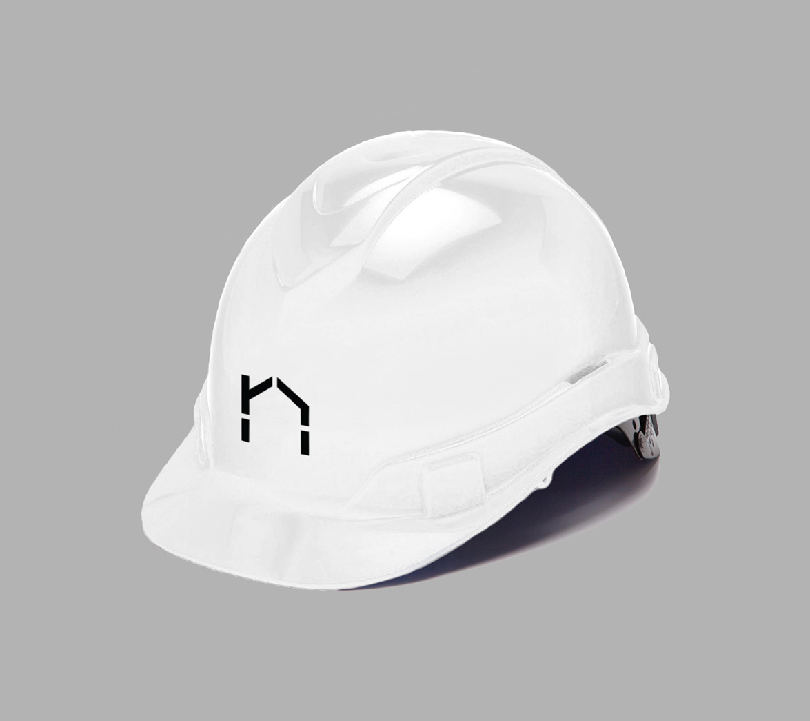 Helmet design for architecture startup brand nHouse, designed by White Bear Studio