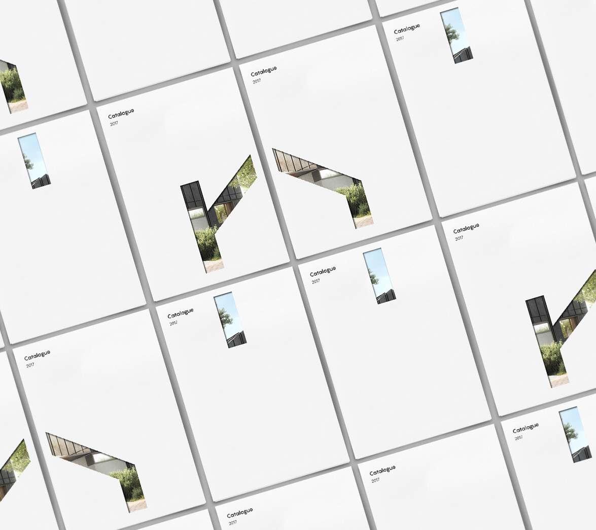 Brochure design for architecture startup brand nHouse, designed by White Bear Studio