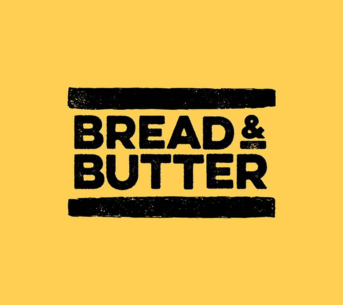 Logo design for food startup Bread and Butter, designed by White Bear Studio